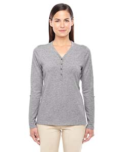DP186W Ladies' Perfect Fit™ Y-Placket Convertible Sleeve Knit Top