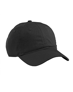 Wholesale econscious EC7000 Organic Cotton Twill Unstructured Baseball Hat - BLACK