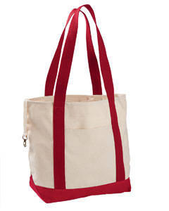 EC8035 12 oz. Organic Cotton Canvas Boat Tote Bag