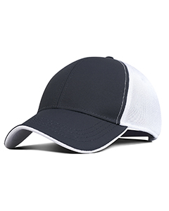 Wholesale Fahrenheit F366 Performance Pearl Nylon Mesh Back Cap - CHARCOAL/ WHT