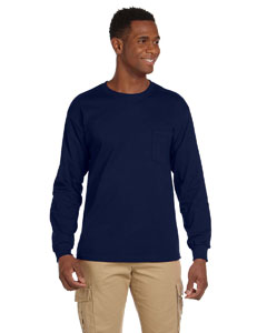 G241 Adult Ultra Cotton® 6 oz. Long-Sleeve Pocket T-Shirt