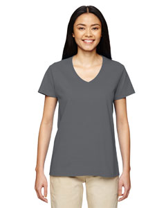 G500VL Ladies' Heavy Cotton™ 5.3 oz. V-Neck T-Shirt
