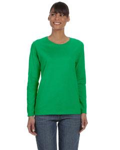 701464804 Blank LAT 3588 Ladies  Long Sleeve Premium Jersey T-Shirt