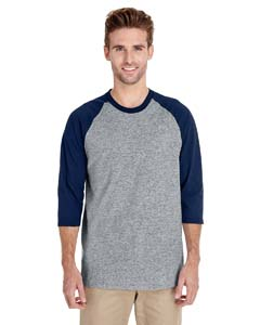 G570 Adult Heavy Cotton™ 5.3 oz., 3/4 Raglan Sleeve T-Shirt