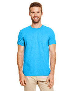 Wholesale Gildan G640 Adult Softstyle®  4.5 oz. T-Shirt - HEATHER SAPPHIRE
