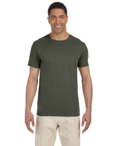 Wholesale Gildan G640 Adult Softstyle®  4.5 oz. T-Shirt - MILITARY GREEN