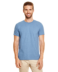 Wholesale Gildan G640 Adult Softstyle®  4.5 oz. T-Shirt - HEATHER INDIGO