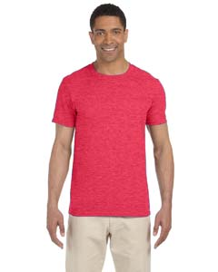 Wholesale Gildan G640 Adult Softstyle®  4.5 oz. T-Shirt - HEATHER RED