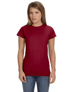 Wholesale Gildan G640L Ladies' Softstyle®  4.5 oz. Fitted T-Shirt - ANTIQ CHERRY RED