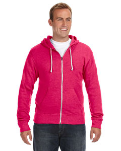 JA8872 Adult Triblend Full-Zip Fleece Hood