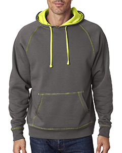 JA8883 Adult Shadow Fleece Pullover Hood
