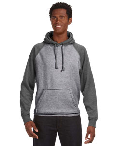 JA8885 Adult Vintage Heather Pullover Hood