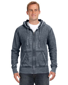 JA8916 Adult Vintage Zen Full-Zip Fleece Hood