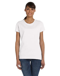 Wholesale Fruit of the Loom L3930R Ladies' 5 oz. HD Cotton™ T-Shirt - WHITE