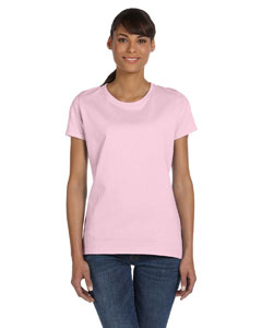 Wholesale Fruit of the Loom L3930R Ladies' 5 oz. HD Cotton™ T-Shirt - CLASSIC PINK
