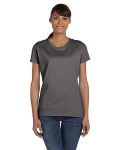 Wholesale Fruit of the Loom L3930R Ladies' 5 oz. HD Cotton™ T-Shirt - CHARCOAL GREY