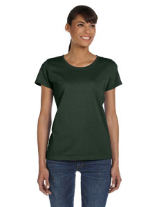 Wholesale Fruit of the Loom L3930R Ladies' 5 oz. HD Cotton™ T-Shirt - FOREST GREEN
