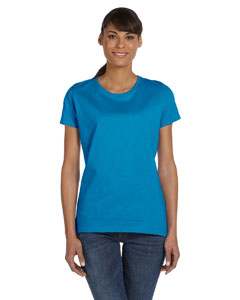 Wholesale Fruit of the Loom L3930R Ladies' 5 oz. HD Cotton™ T-Shirt - PACIFIC BLUE