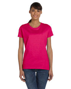 Wholesale Fruit of the Loom L3930R Ladies' 5 oz. HD Cotton™ T-Shirt - CYBER PINK