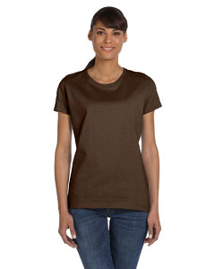 Wholesale Fruit of the Loom L3930R Ladies' 5 oz. HD Cotton™ T-Shirt - CHOCOLATE