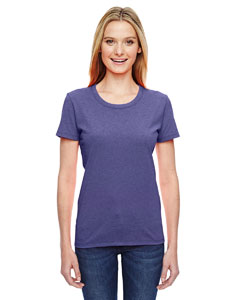 Wholesale Fruit of the Loom L3930R Ladies' 5 oz. HD Cotton™ T-Shirt - RETRO HTR PURPLE
