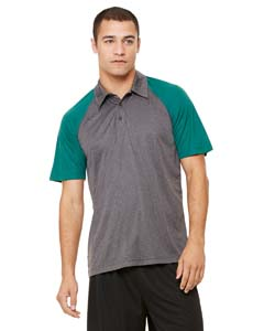 M1829 Unisex Performance Three-Button Raglan Polo