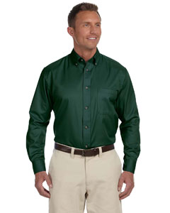 M500 Men's Easy Blend™ Long-Sleeve Twill Shirt with Stain-Release