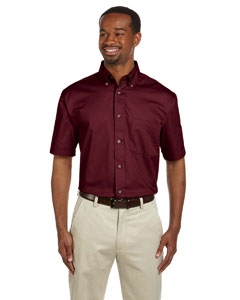 M500S Men's Easy Blend™ Short-Sleeve Twill Shirt with Stain-Release