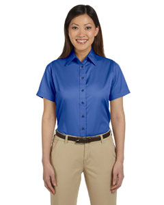 M500SW Ladies' Easy Blend™ Short-Sleeve Twill Shirt with Stain-Release