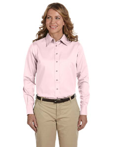M500W Ladies' Easy Blend™ Long-Sleeve Twill Shirt with Stain-Release