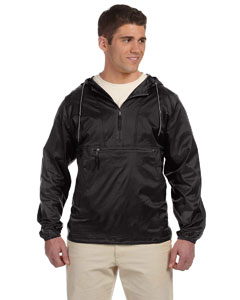 Wholesale Harriton M750 Adult Packable Nylon Jacket - BLACK