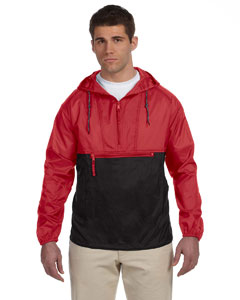 Wholesale Harriton M750 Adult Packable Nylon Jacket - RED/ BLACK