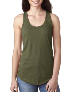 Wholesale Next Level N1533 Ladies' Ideal Racerback Tank - MILITARY GREEN