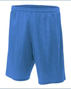 N5296 Adult Nine Inch Inseam Mesh Short