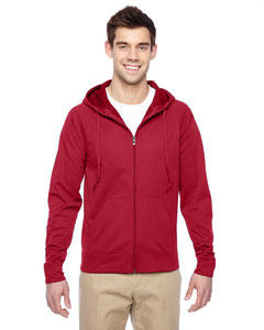 PF93MR Adult 6 oz. DRI-POWER® SPORT Full-Zip Hooded Sweatshirt