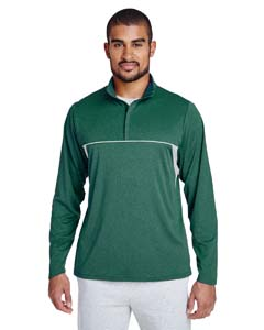 TT26 Men's Excel Mélange Interlock Performance Quarter-zip Top