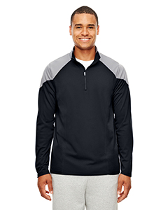 TT27 Men's Command Colorblock Snag-Protection Quarter-Zip