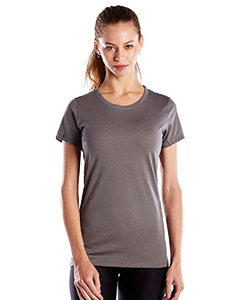 Wholesale US Blanks US100 Ladies' 4.3 oz. Short-Sleeve Crewneck - ASPHALT