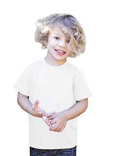 US2001K Toddler Organic Cotton Crewneck T-Shirt
