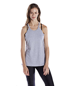 Wholesale US Blanks US208 Ladies' 4.3 oz. Goddess Tank - HEATHER GREY
