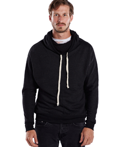 Wholesale US Blanks US897 Unisex French Terry Snorkel Pullover Sweatshirt - TRI CHARCOAL
