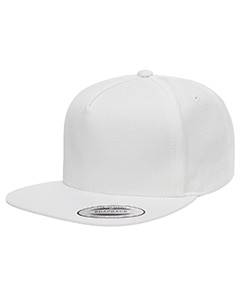 Y6007 Adult 5-Panel Cotton Twill Snapback Cap